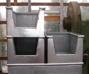 Stahl Sicht-Lagerkästen verzinkt 400x300x600