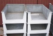 Stahl Sicht-Lagerkästen verzinkt 600x300x800